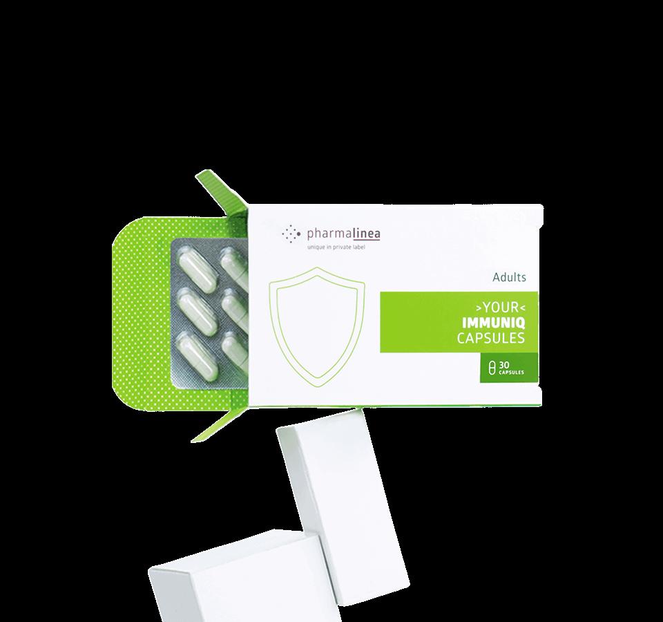 private label immunity capsules product