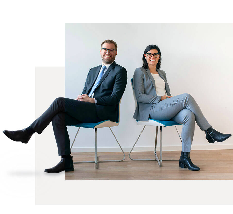 mitja repse and jana hrovat sitting on chairs